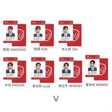 NCT Wayv Members PVC Photo Cards Hendery Ten Autograph Photocards Kun Fan Made Fancy Cards Fan Gift