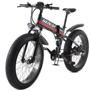 GUNAI Electric Bicycle 48V12Ah 1000W with LCD Display E-Bike and Removeable Lithium Battery