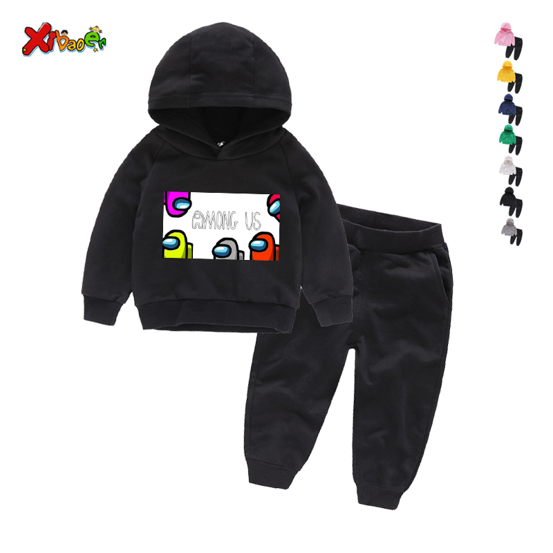 Game Among Us Hoodies Pants Suit for Teens Girls Boys Children Cartoon Anime Sweatshirt Suit Kids Autumn Winter Clothes Sudadera 1
