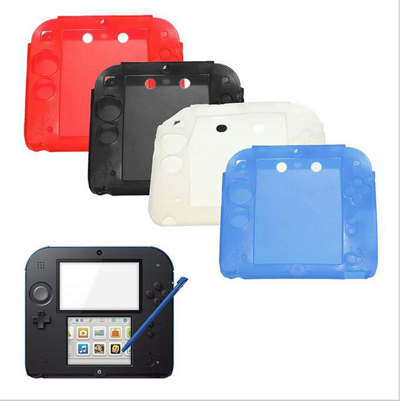 For Nintendo 2DS Game Console Protection Skin Shell Protector Ultra Thin Soft Silicone Gel Protective Cover Case