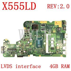 X555LD LVDS interface 4GB RAM REV:2.0 Motherboard For ASUS X555L A555L K555L F555L W519L X555LD X555LJ X555LF Laptop Mainboard