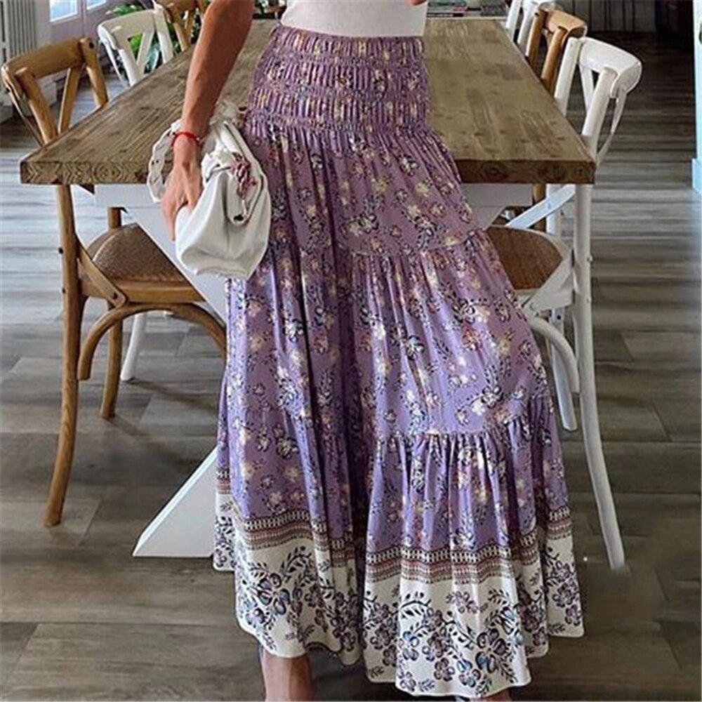 Sexy High Waist Boho Beach Long Skirts Womens 20 Spring Summer ...