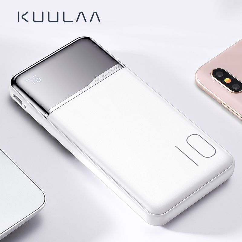 KUULAA <font><b>Power</b></font> <font><b>Bank</b></font> <font><b>10000</b></font> mAh Portable Charging PowerBank 10000mAh USB PoverBank External Battery Charger For Xiaomi <font><b>Mi</b></font> 9 8 Huawei image