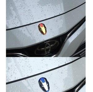 Image 5 - для автомобиля 3D хромированные металлические наклейки на автомобиль Эмблемы автомобилей «Железный человек», декоративные наклейки для автомобиля «мстители», внешние авто аксессуары для volkswagen