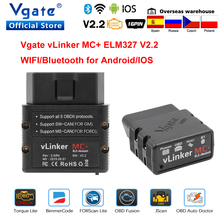 Vgate vLinker MC+ ELM 327 Bluetooth 4.0 Car Scanner OBD2 wifi Auto Diagnostic Tool for Android/IOS ELM327 OBD 2 ODB2 Bimmercode