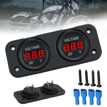 1Pc DC 12V/24V Durable Digital Voltmeter Car Dual Battery LED Digital Volt Meter Boat Voltage Marine Gauge Volt Tester стоимость