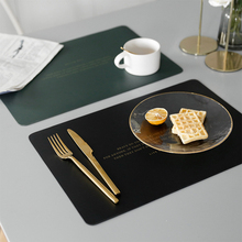 Western Leather Placemat Nordic Table Placemats Kitchen Insulation Table Mats for Dining Table Waterproof Oily Coasters Stuff placemat dining table coasters simulation leaf plant pvc cup western food insulation pad table mats kitchen christmas home decor