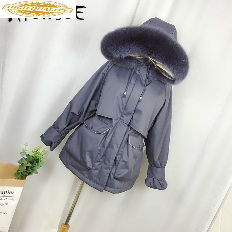 Winter Coat Women Korean Hooded White Duck Down Jacket Women Puffer Jacket 2019 New Fox Fur Collar Warm Parka Abrigos YY1656