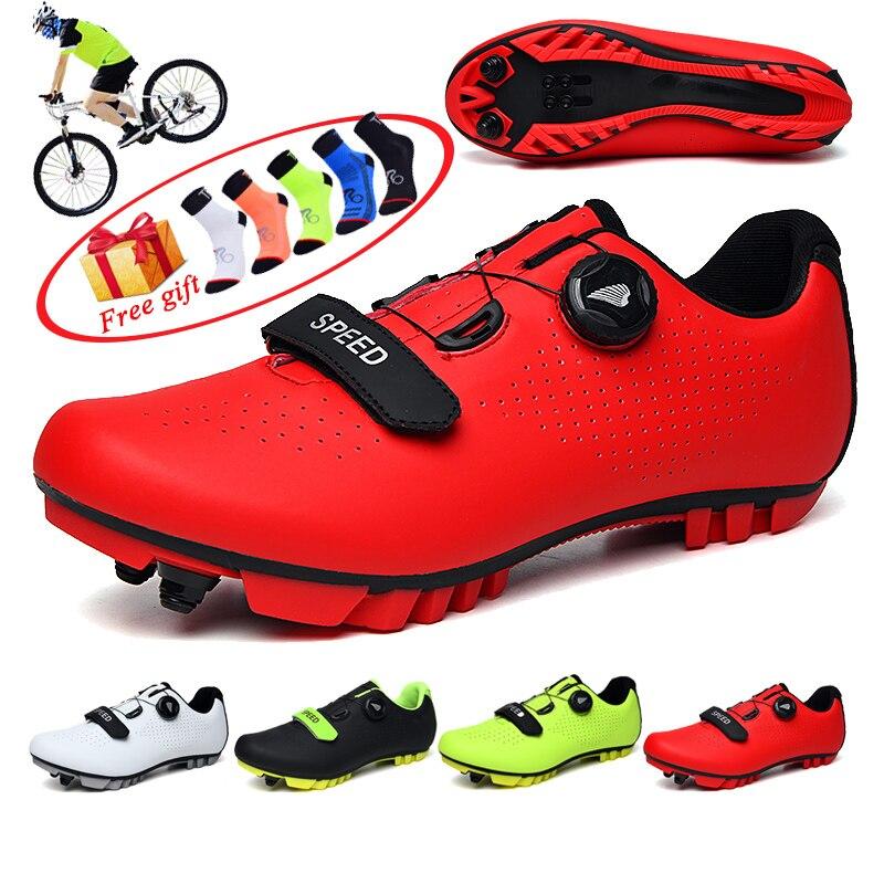 Männer Radfahren Schuhe Atmungsaktive Self-Locking Mtb Schuhe Mountainbike Schuhe Fahrrad RacingTriathlon Sapatilha Ciclismo Mtb