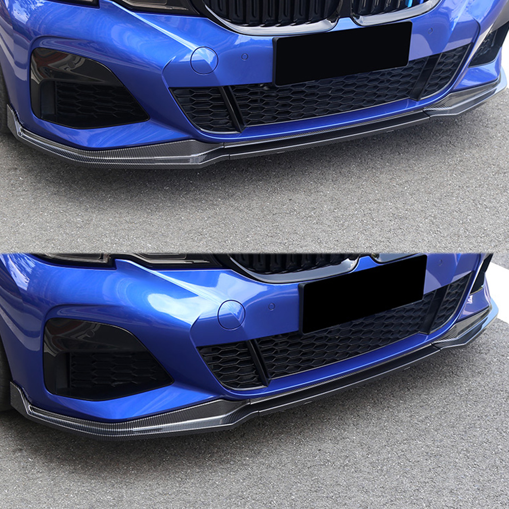 For BMW 3 Series G20 2020 Car Front Lip Chin Bumper Body Kits Deflector Spoiler Splitter Diffuser Exterior Auto Parts