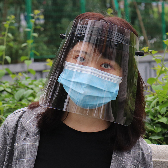 Protective Mask Transparent PVC Safety Anti-Saliva Dustproof  Faces Shields Screen Anti-Virus Spare Visors For Head Face mask 5