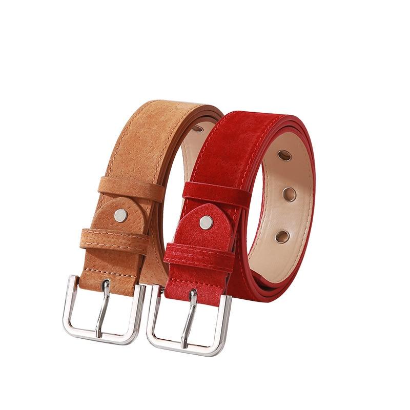 Best YBT Women Imitation Leather Belt Pin Buckle Belt Fashionable Pants Sexy Simple Dress Decorative Thin Women High Qualit Belt