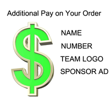Pay For The Customization Costom Name Number Team Logo Sponsor