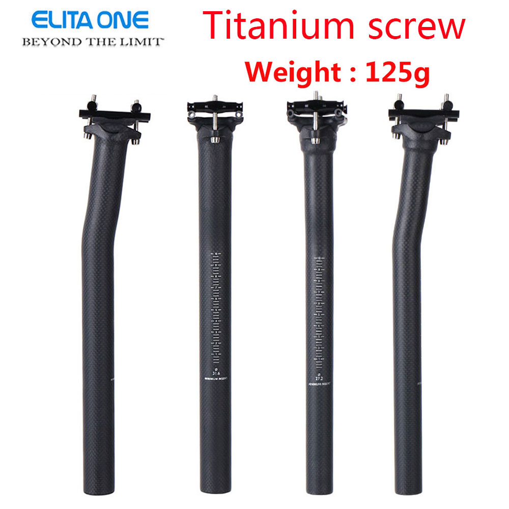 Bicycle Carbon Seatpost 31.6 27.2 415mm Mountain Road bike Seat Post 27.2mm UD