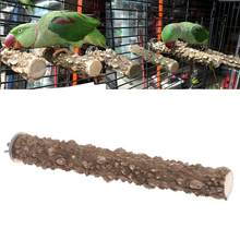Pet Bird Parrot Stand Perch Stick Platform Grinding Paw Cage Hanging Chew Toy(China)
