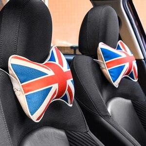 Image 5 - 1pc carro travesseiro pescoço encosto de cabeça para bmw mini cooper couro do plutônio universal cabeça resto almofada estilo automóvel acessórios