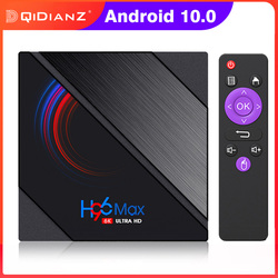 H96 MAX H616 CPU 6K Smart TV BOX 2.4G & 5G WIFI Android 10.0 prend en charge Miracast DLNA