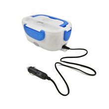 AHTOSKA 12V Portable Electric Heating Lunch Box  Food Grade Food Container Food Warmer For Kids  4 Buckles  Dinnerware Sets Car