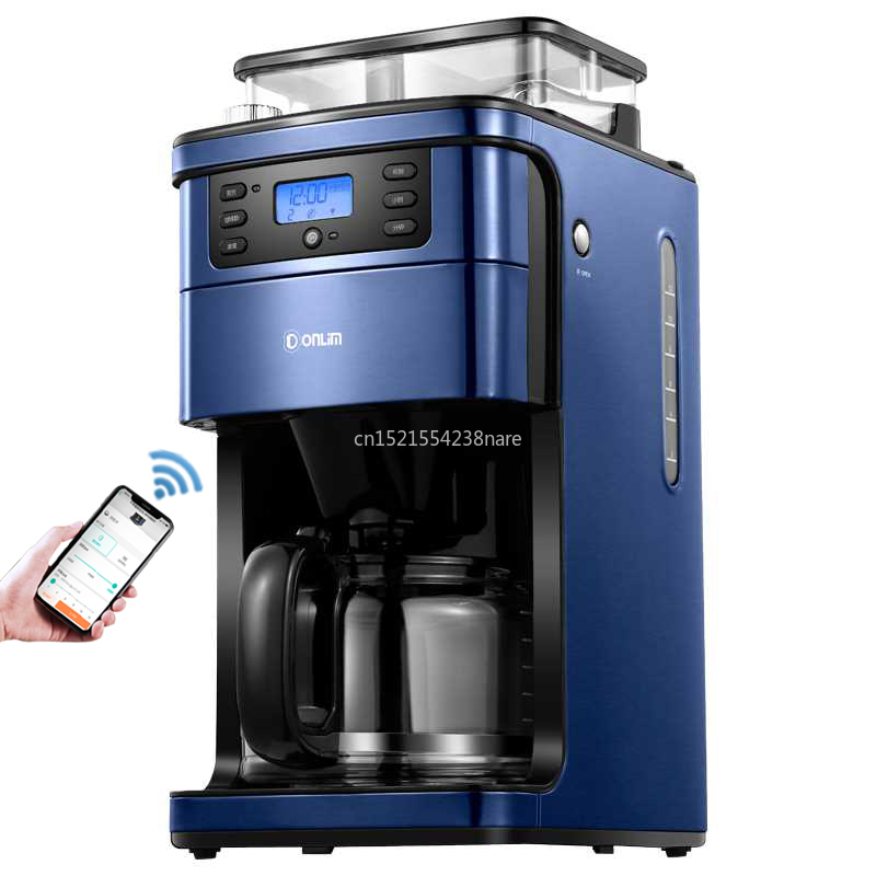 900W 220V Coffee Machine Home Automatic American Drip Type Italian Grinder Bean Machine Small Commercial