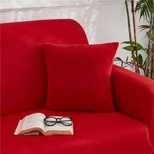 Funda de cojín elástica de licra, funda de almohada de colores combinados con fundas de sofá de 45x45CM, 2/4 Uds.