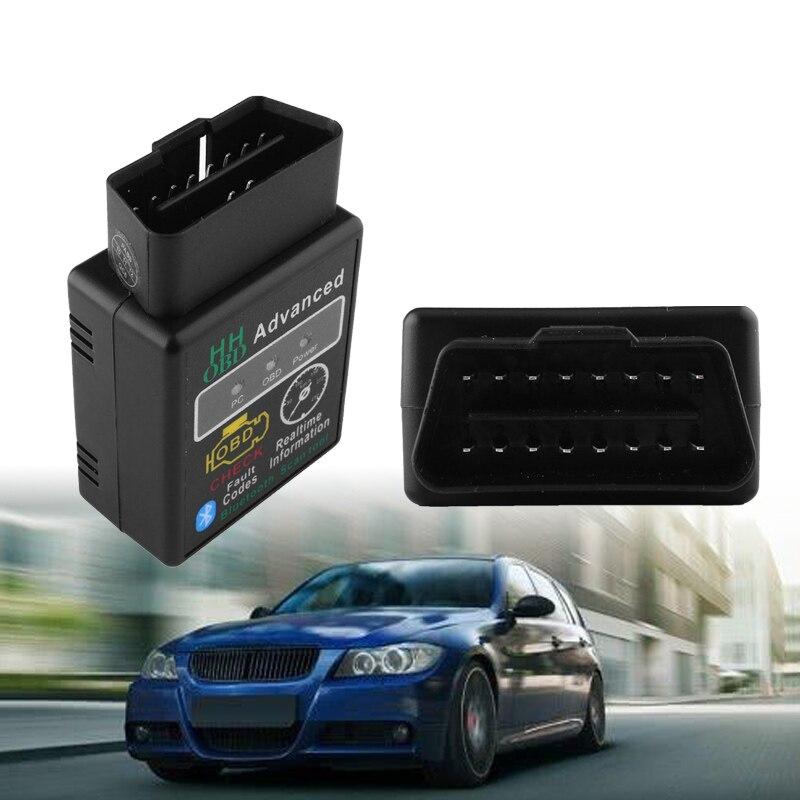 Advanced HH OBD ELM327 Bluetooth V1.5 OBD2 ELM 327 V 1.5 Car Diagnostic Scanner For Android/PC OBDII CAN BUS Diagnostic Tool