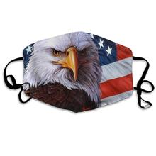 Mouth Mask for Daily American Flag Eagle Printed Face Mask Adult Cloth Protective Mask Reusable Washable Dust Cover Mouth Mask