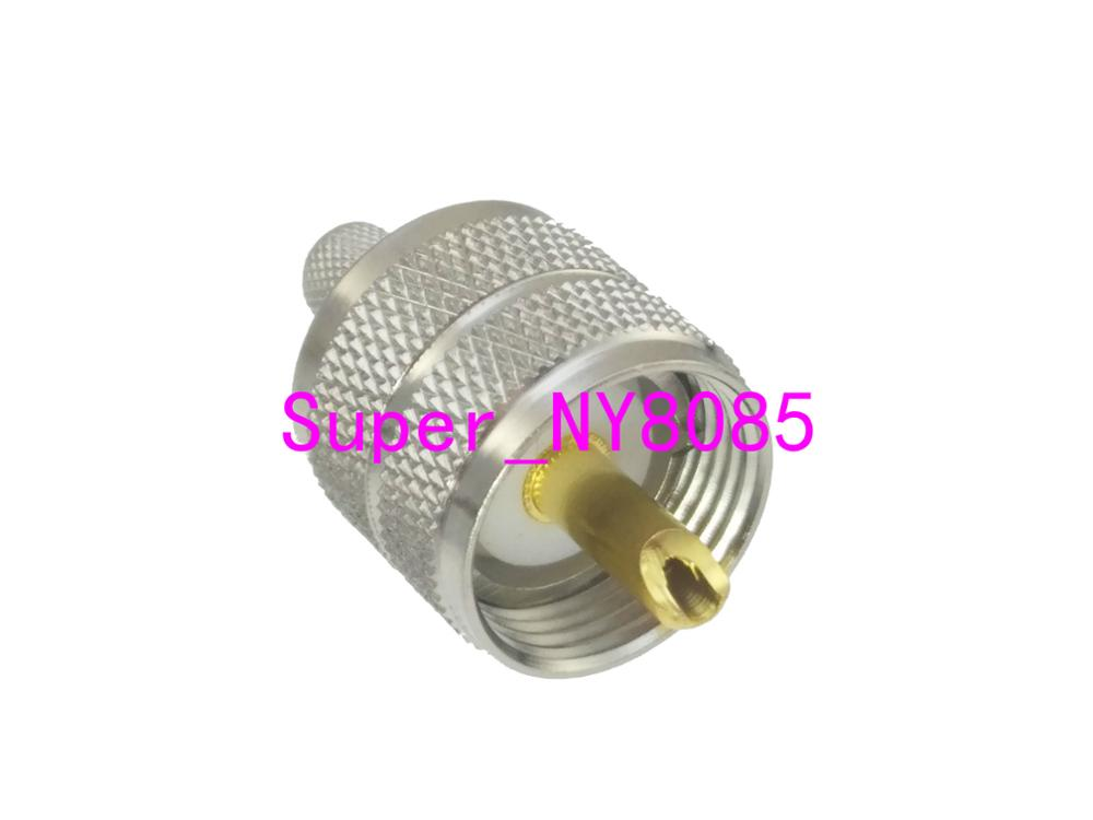 10pcs Connector UHF PL259 male plug crimp RG8X RG 8X LMR240 cable Straight in Connectors from Lights Lighting