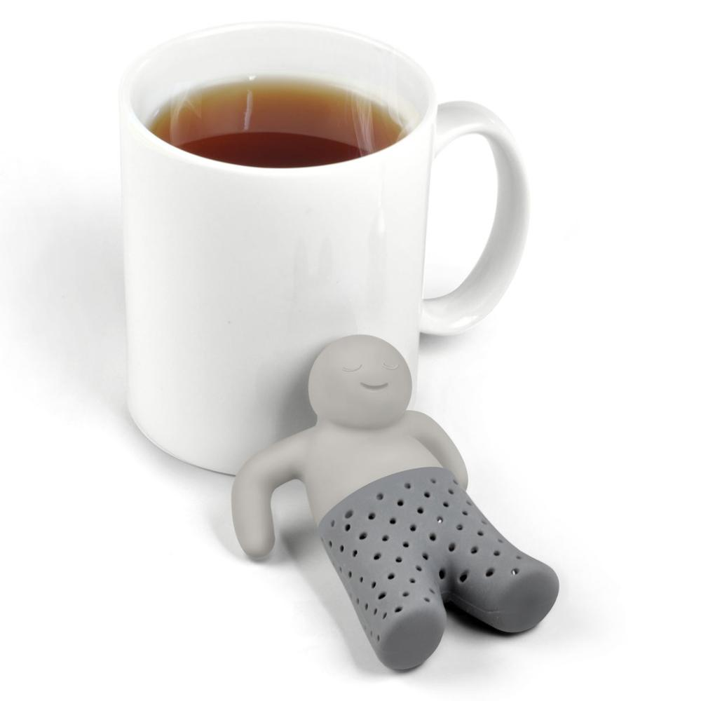 1PC Silicone Tea Strainer Or Infuser Mug  Little Man Tea Herb Infuser For Filter Brewing Making Tea Mug