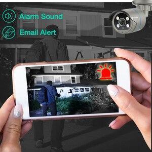 Image 3 - Techage 1080P POE IP Camera 2MP Home Smart AI Camera Outdoor impermeabile sicurezza Video CCTV telecamera di sorveglianza supporto ONVIF