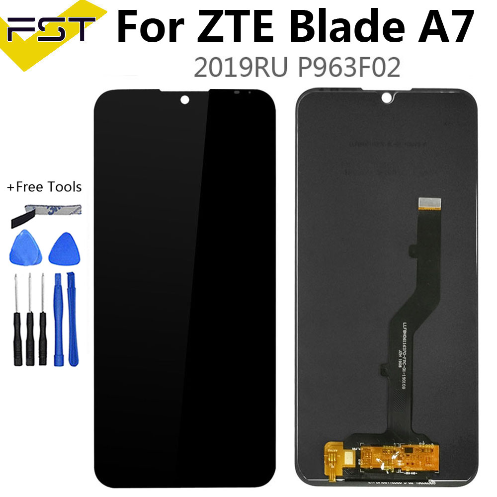 Black 6.09 Inch For ZTE Blade A7 2019 P963F02 LCD Display And Touch Screen Digitizer Sensor Assembly With Tools For ZTE A7 LCD