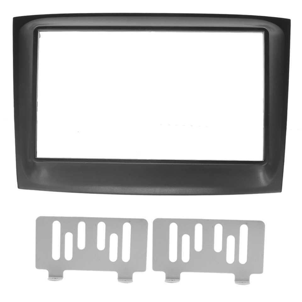 כפול 2Din רכב Fascia רדיו פנל עבור פיאט Doblo 2015 + DVD סטריאו מסגרת אודיו דאש Facia פנים צלחת כיסוי ערכת לוח