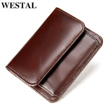 WESTAL men's purse fashion designer card holder coin purse male wallet clutch bag for men's money bags cover purse for men 7411(China)