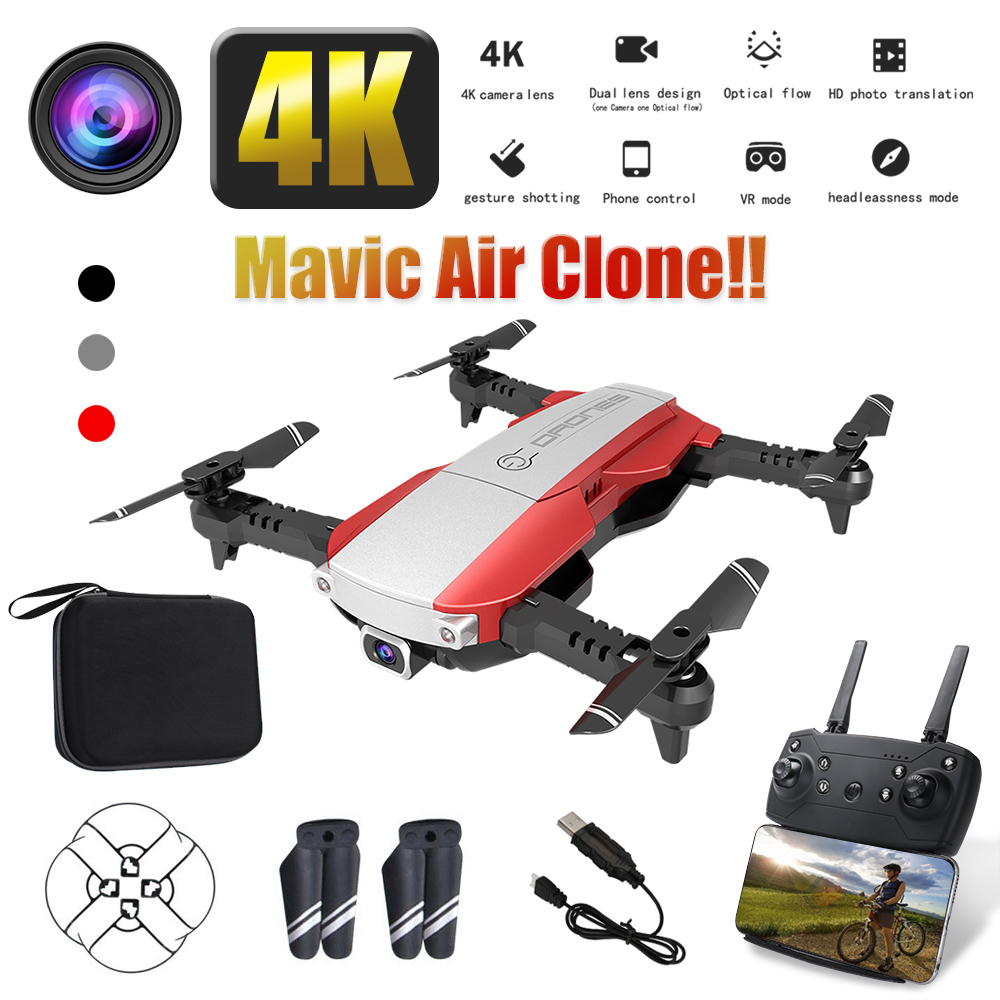 LANSENXI-NVO RC Drone 1080P Quadcopter 2 4GHz WiFi FPV Foldable mini drones Real-time Transmission camera dron Quadcopter Gift
