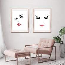 Bedroom Decor Beautiful Confident Woman Portrait Illustration Posters and Prints Modern Makeup Beauty Wall Art Canvas Painting(China)