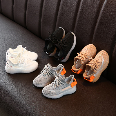 Children Sport Shoes Luminous Fashion Breathable Kids Boys Net Shoes Girls Anti-Slippery Sneakers With Light Running Shoes