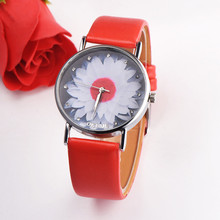 Watch Women Fashion Flower Watches Leather Quartz Relogio Feminino 2019 dames horloges reloj mujer