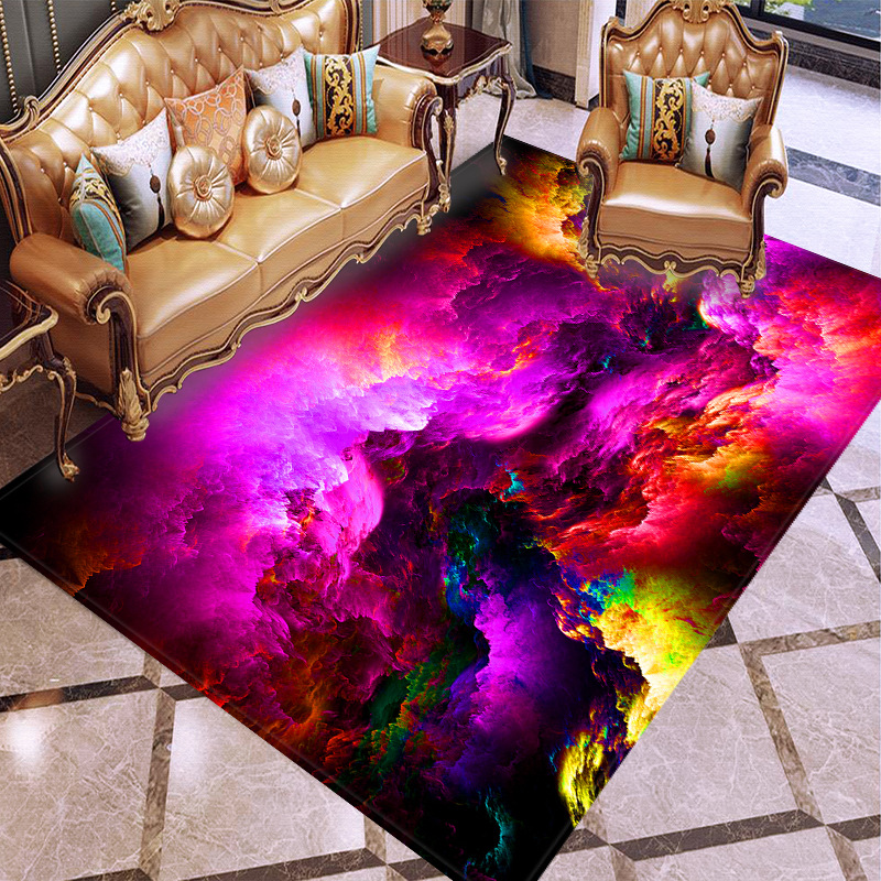 Modern Colorful Carpets For Living Room Bedroom Area Rugs Kids Room Play Mats Soft Flannel Memory Foam Home Decor Large Carpet