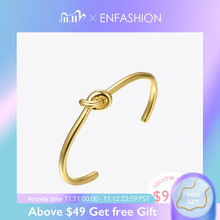 ENFASHION Bracelets de Manchette pour femmes, couleur or, bijoux à la mode, vente en gros, B4286