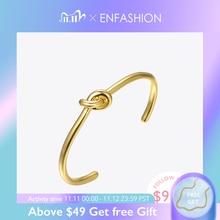 ENFASHION סיטונאי קשר קאף צמידי זהב צבע Manchette צמיד צמיד לנשים Armband תכשיטים Pulseiras B4286