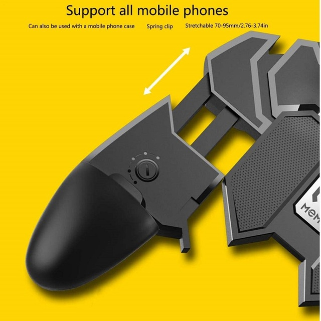 AK66 Pubg Controller Six Finger Gamepad Mobile Game Controller Pubg Free Fire Key Button Joystick Gamepad L1 R1 Trigger for PUBG 3