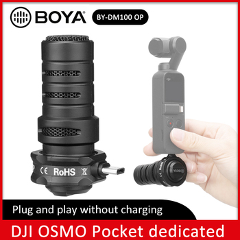 BOYA BY-DM100-OP Type-C Shotgun Microphone Omnidirectional Plug-in Digital Condenser Mic With Windshield Bag for DJI OSMO Pocket