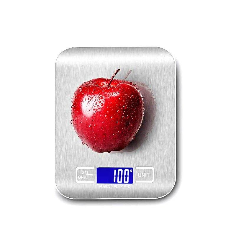 Бытовые кухонные весы, электронные на 5 кг/10 кг 1 г с тонким ЖК-дисплеем для кухни, почты-0