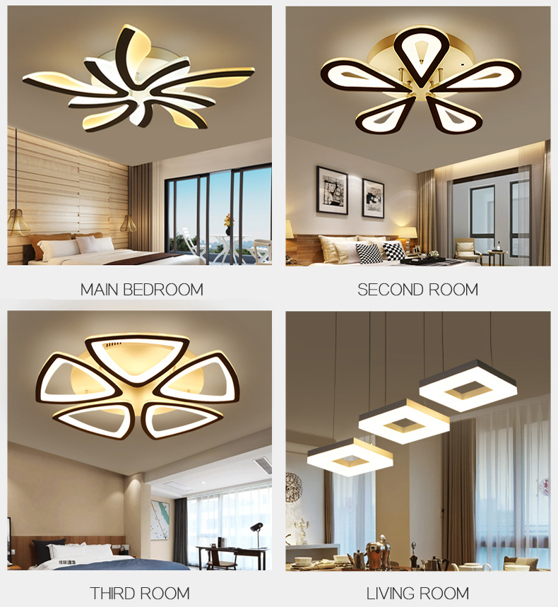 H213407d062ec46d08b3504a41f85af8ew LED Ceiling Lights Dandelion Indoor Ceiling Lamp Modern Simple Post-Modern Living Room Bedroom Dining Room Study Room