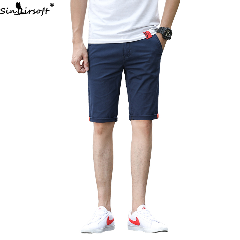 Summer Explosive Casual Shorts Men's Fashion Comfortable Stretch Casual Five-point Pants Men 98% Cotton Wild Hot Sale Shorts Men