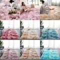 Лохматый галстук-краситель ковер печатных плюшевые пол пушистые коврики области коврики для гостиной