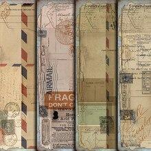 4 unids/pack A5 Vintage inglés sobre boleto etiqueta engomada DIY Scrapbooking álbum diario planificador pegatinas