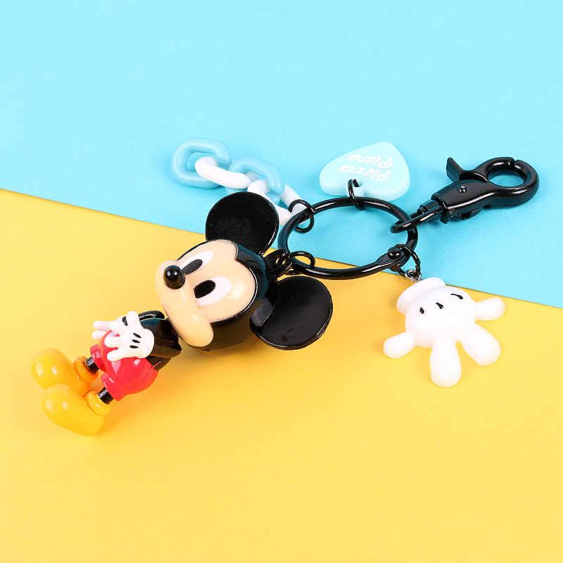Minnie รูปการ์ตูนน่ารัก Key Chain มินิอะนิเมะ Key แหวนเด็ก Charm จี้พวงกุญแจแฟชั่นสาว Keyring
