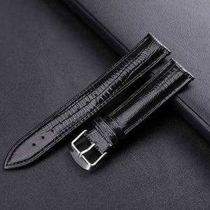 Genuine Leather Watchband 18mm 20mm 14mm 16mm12mm Wrist Watch Strap For Women Men High Quality black Colors Watch belt Bracelet(China)