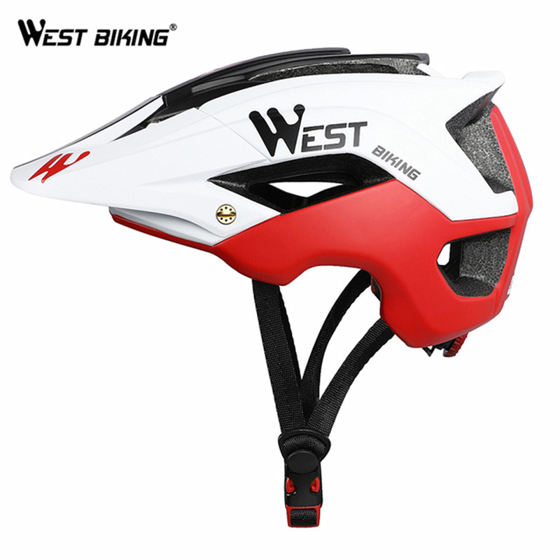 WEST BIKING Bike Helmet 56-62cm Breathable Ultralight MTB Integrally-molded Mountain MTB Cycling Helmet Safety Bicycle Helmet image