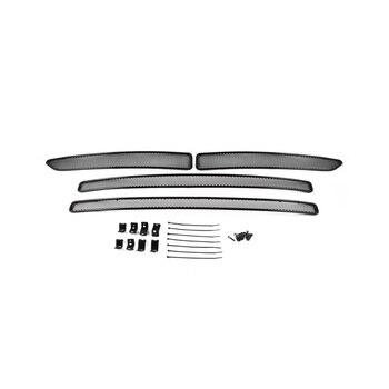 Mesh on bumper exterior for Toyota Rav 4 2015, 4 PCs, black, 10 m